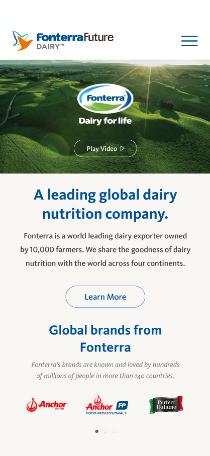 Fonterra Future Dairy Slider